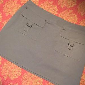 EXPRESS Stretch Twill Cargo Pocket Skirt sz 6